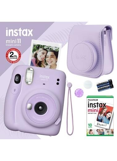 Fujifilm instax mini 11 Lila Fotoğraf Makinesi ve Hediye Seti 3 Lila